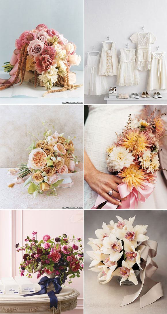 White, nude and pale pink. Martha Stewart.