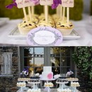 The sweet desserts and cake table