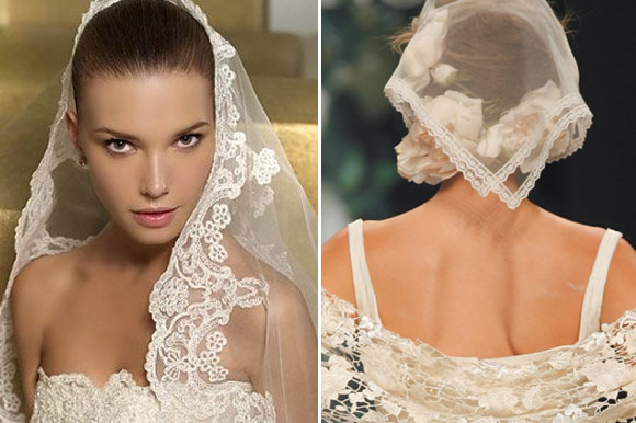 "Spanish ""mantilla"" : an original option to wear on your wedding day"