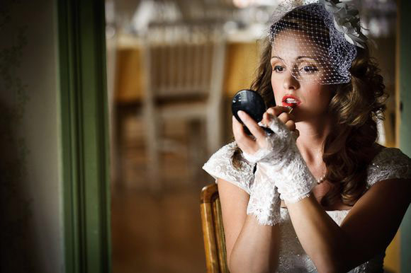 Wear red lips on your wedding day