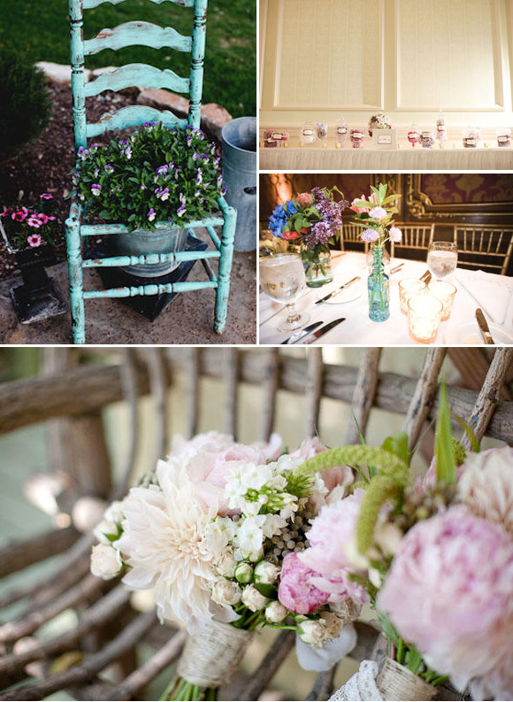 some great vintage ideas to decorate your wedding