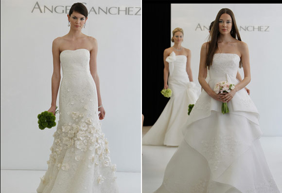 Wedding dresses by designer Angel Sanchez
