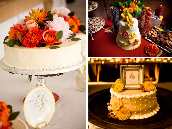 An Autumn wedding cake