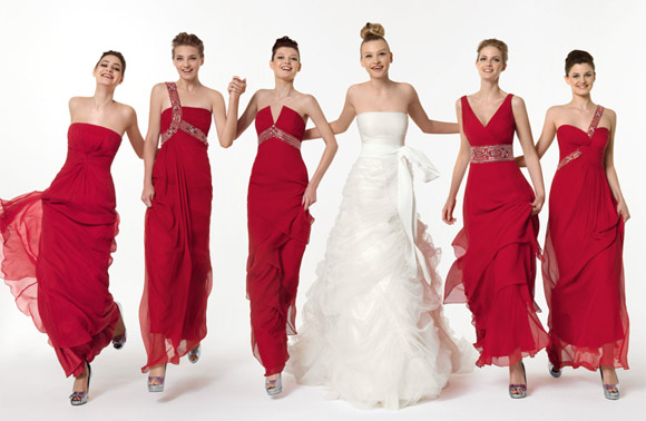 Attractive dresses and colours for your bridesmaids