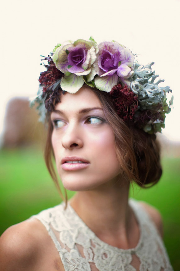 headdresses and wedding bouquet They look great in shades of lilac