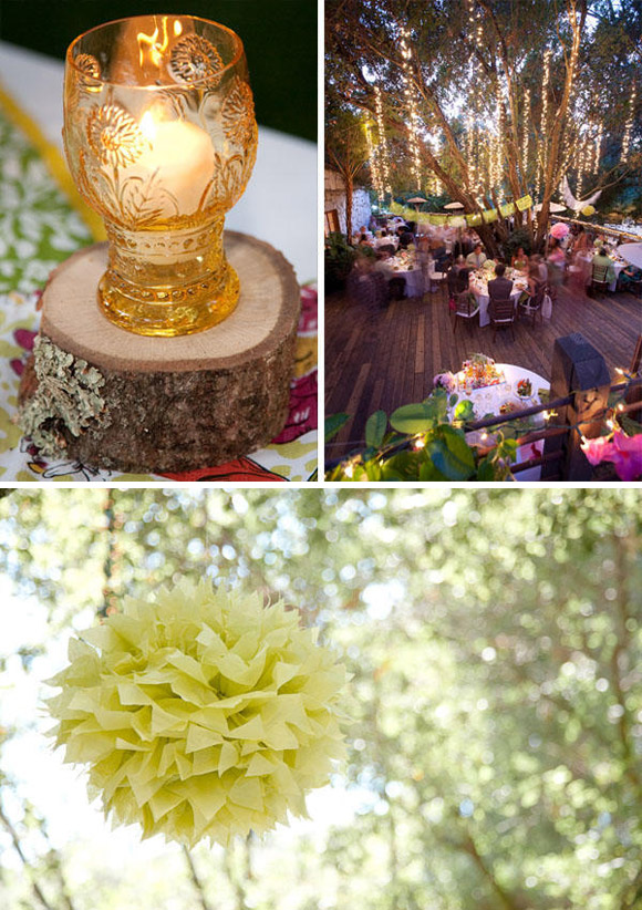 Some lovely ideas to decorate the garden on your wedding day