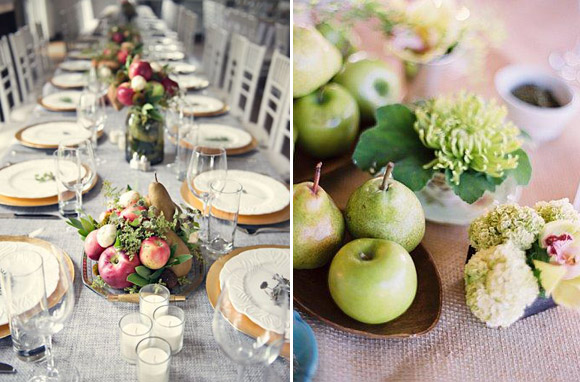Wedding centerpieces inspired in Nature