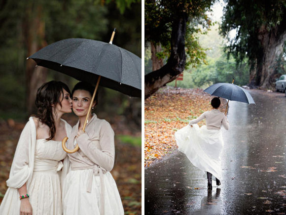 Rainy day wedding