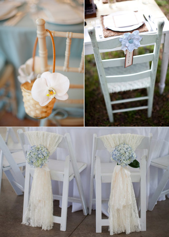 decoracion sillas boda