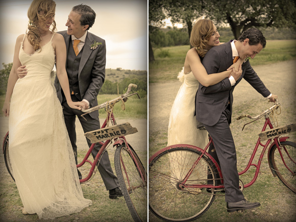 Wednesday Wedding Planners, boda de Marta y Javier, bicicleta novios