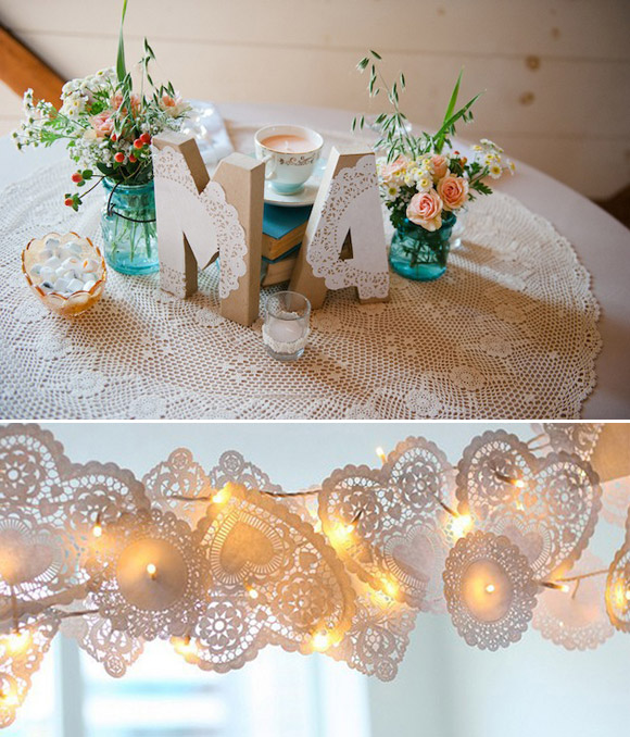 Decora tu boda con blondas de papel doilies in weddings - Decorar con papel ...