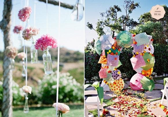 ideas para decorar la ceremonia de la boda en el exterior hazelnut photography