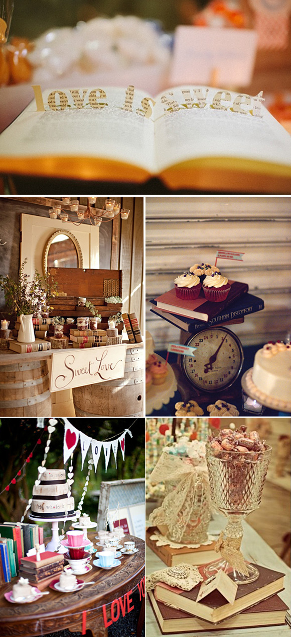 Ideas originales para decorar con libros tu boda for Decoracion con libros