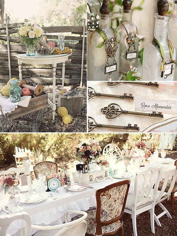 Decoraci n vintage de bodas for Decoracion estilo romantico vintage