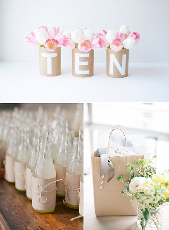 Bodas con papel kraft Ideas para decorar