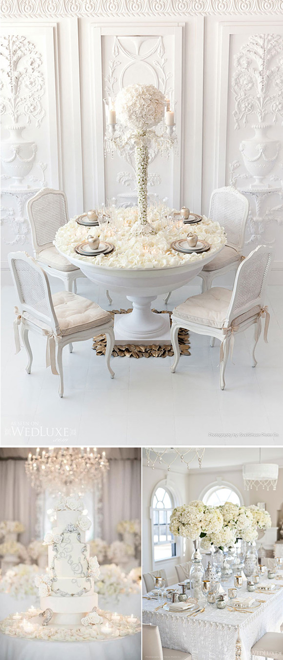 Decoración de bodas en blanco
