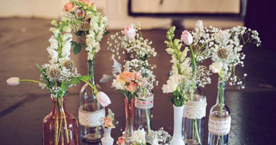 Bodas r sticas ideas para una boda r stica for Adornos con botellas para plantas