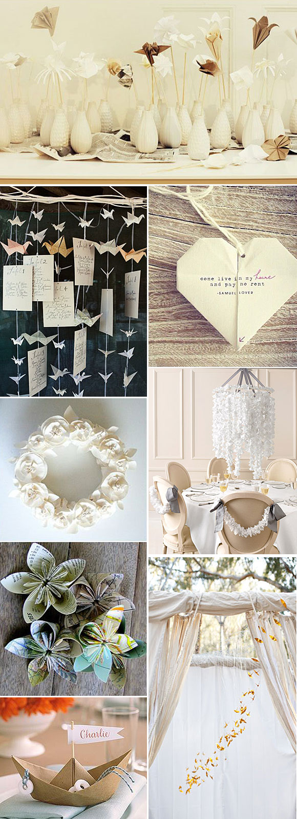 Decoracion origami bodas for Budas decoracion interior