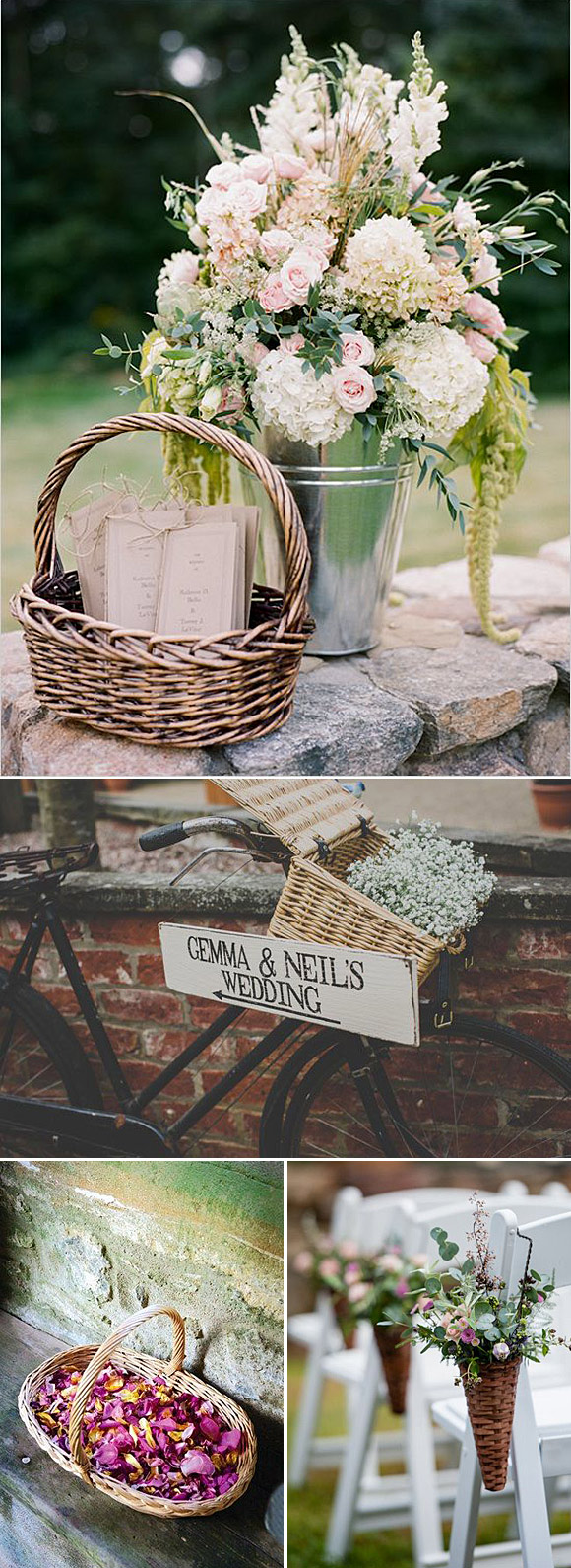 Cestas ideas para decorar bodas y fiestas en el campo - Ideas para decorar fiestas ...
