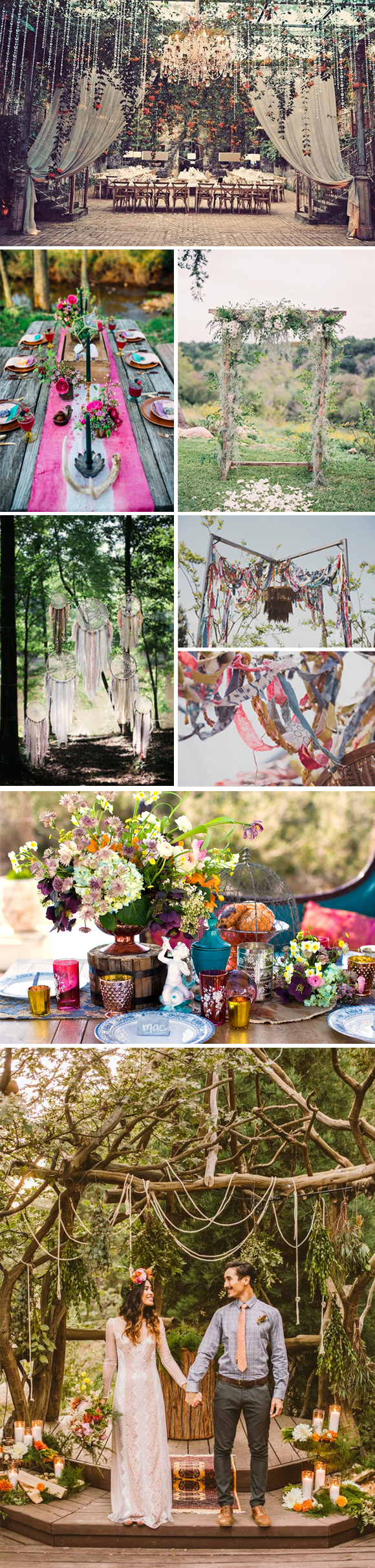 Decoración bodas civiles boho