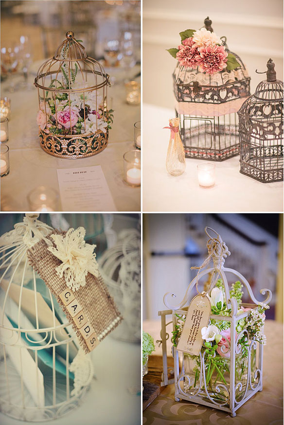 Ideas para decorar jaulas en las bodas
