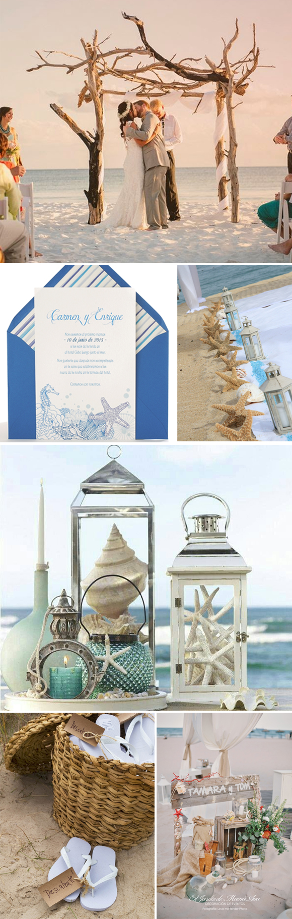 Decorar una boda en la playa - Ideas para una boda en la playa ...