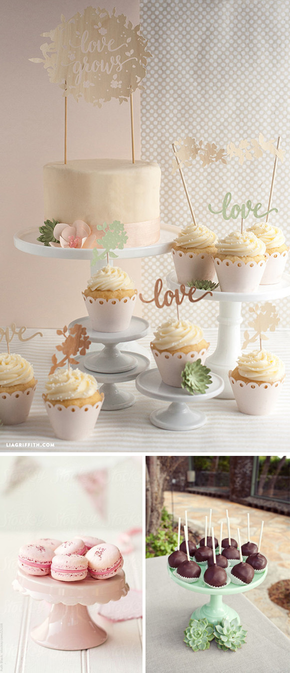 Cake stand 4 cupcakes macarons cakepops
