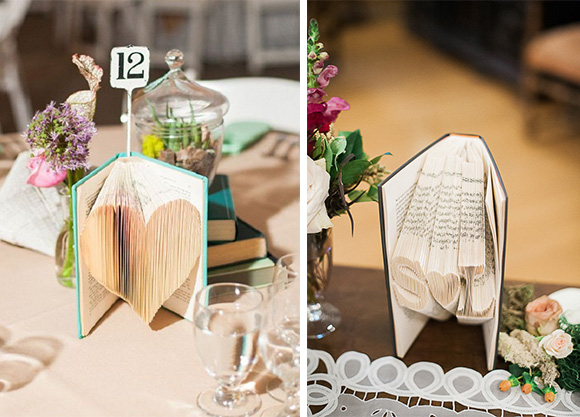 Virginia autor en ideas originales para bodas blog de for Decoracion con libros