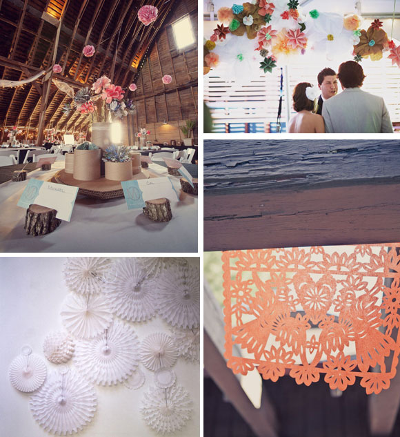 Decoraciones en papel : una idea original para tu boda