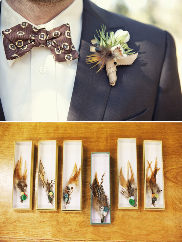 Feathers : a lovely theme for your wedding day