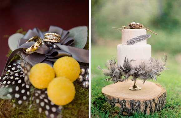 Feathers : a lovely theme for your wedding d