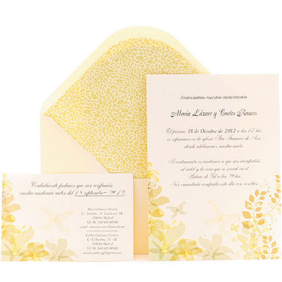 The new Azulsahara Collection : an original wedding invitation for those you love
