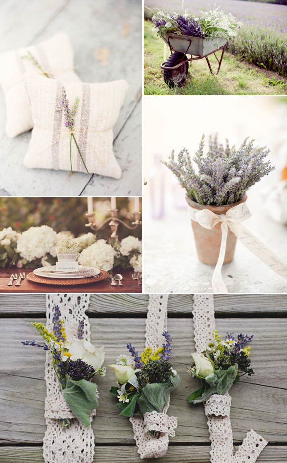 Ideas para decorar la boda con lavanda