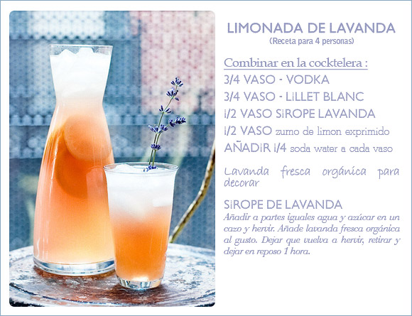 Receta cocktail limonada de lavanda