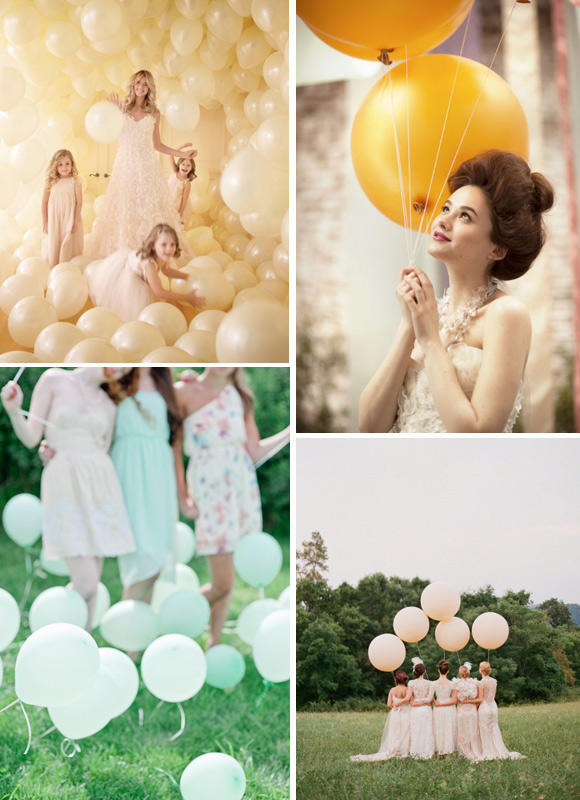 Ideas pata decorar la boda con globos de colores