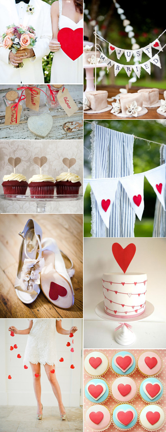 Ideas para decorar tu boda con corazones