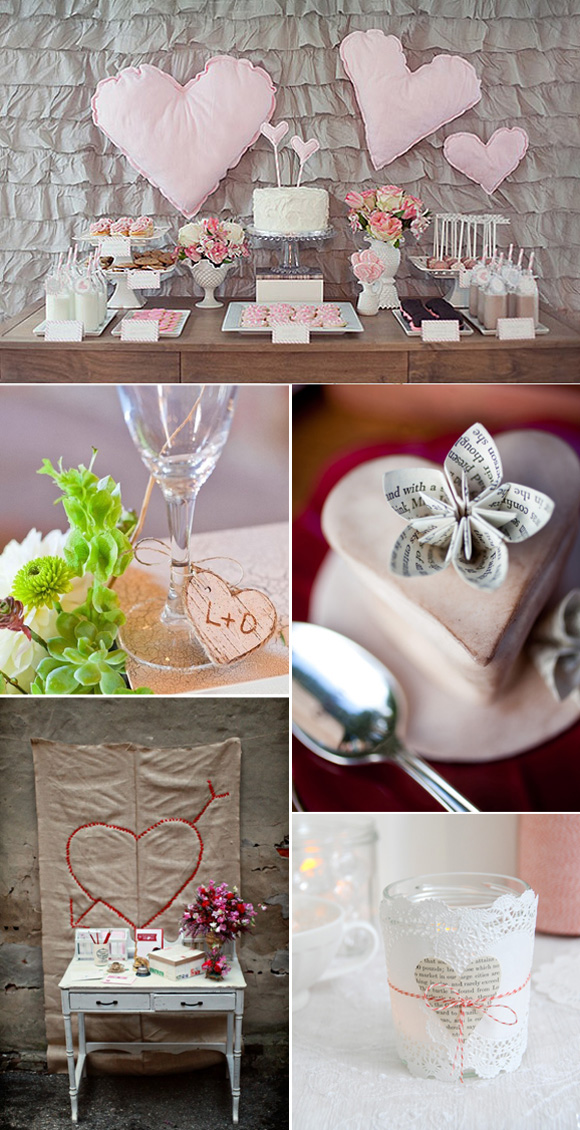 Ideas para decorar bodas con corazones