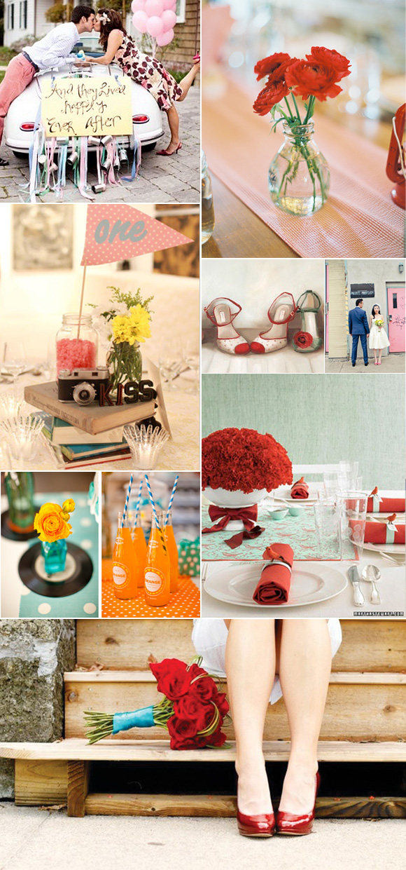 Ideas retro para decorar tu boda