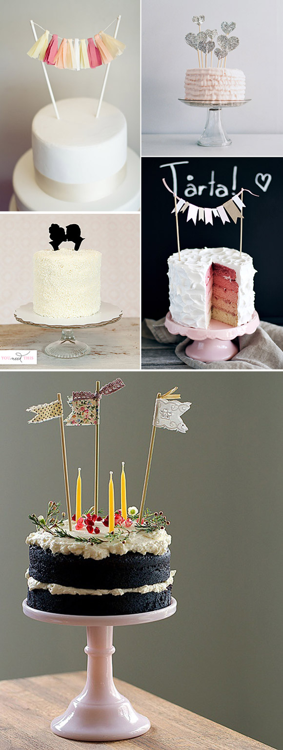 Ideas sencillas para decorar tartas de boda