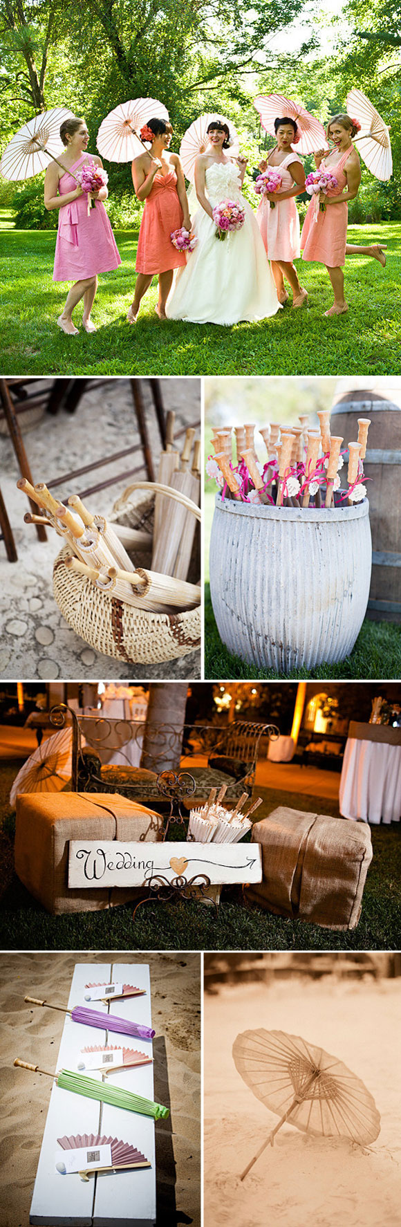 Ideas para decorar con parasoles en tu boda