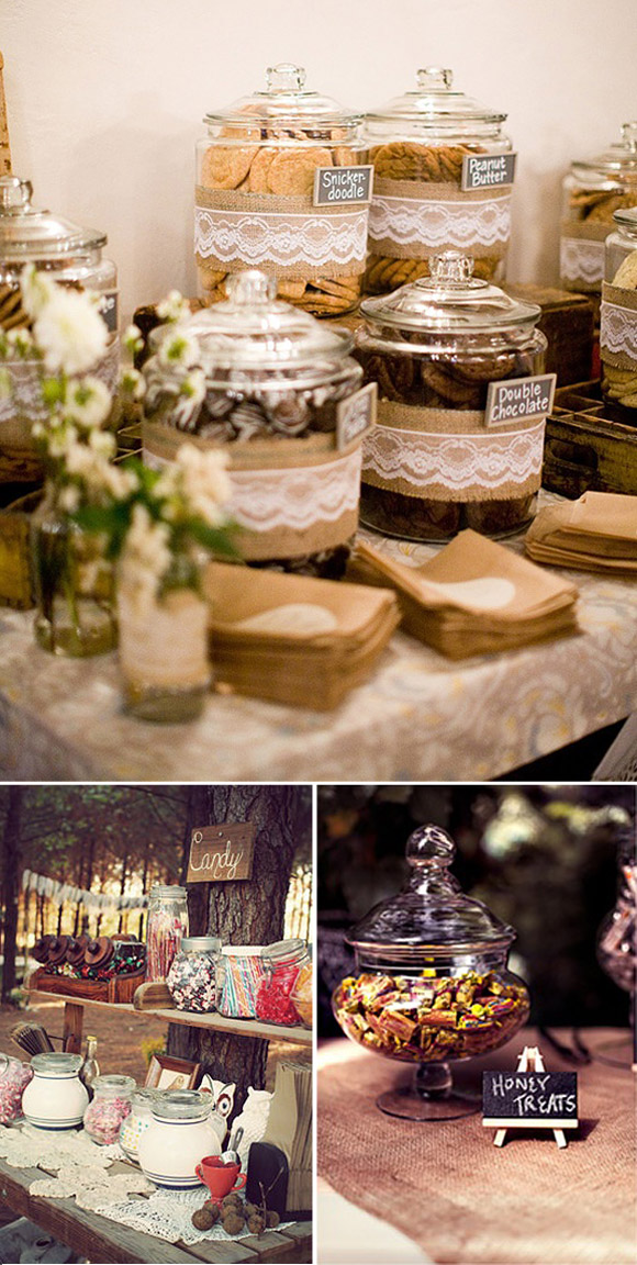 Ideas para montar un candy bar en tu boda