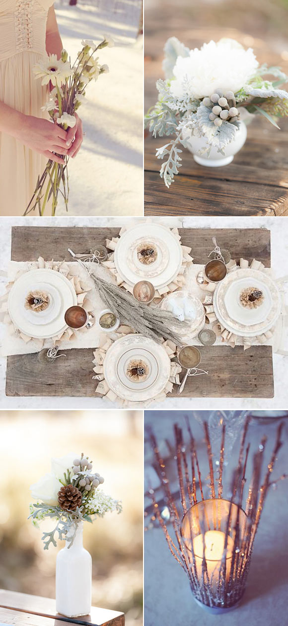Ideas para decorar bodas en invierno