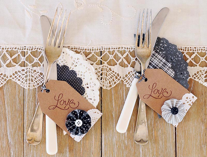 DIY decoración bodas con blondas de papel
