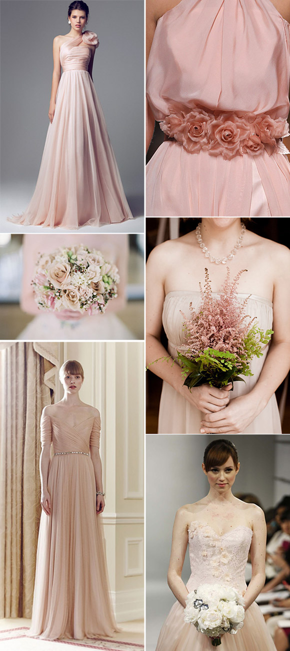 novias en color rosa - tendencias bodas 2014