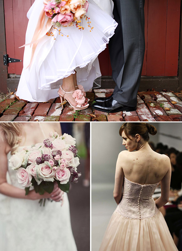 Tendencias bodas 2014 - novias de color rosa