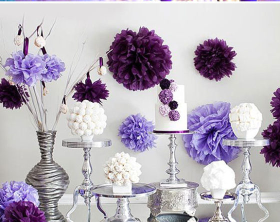 Radiant Orchid - Decoracion para bodas en color violeta
