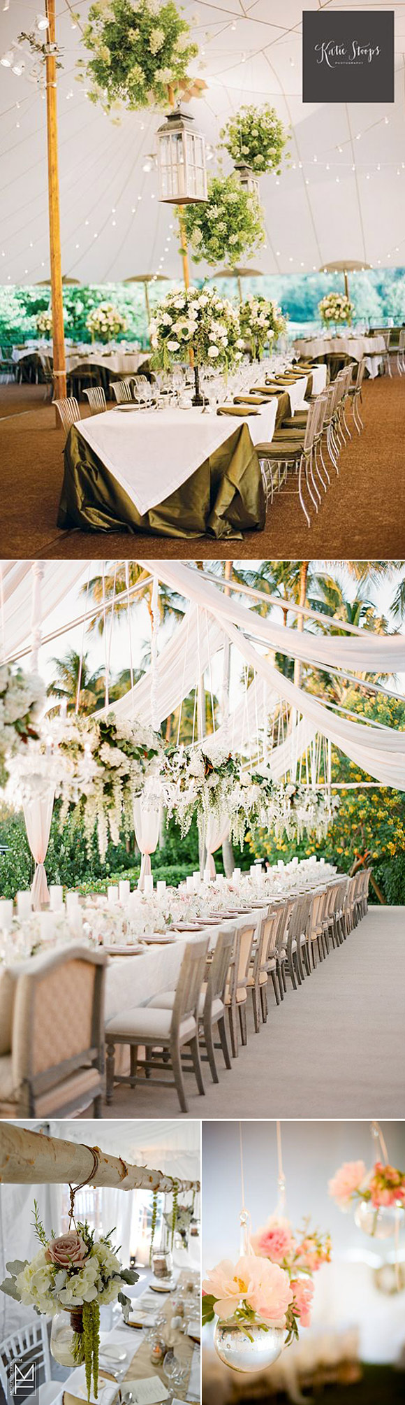 Ideas para decorar la carpa de tu boda con flores