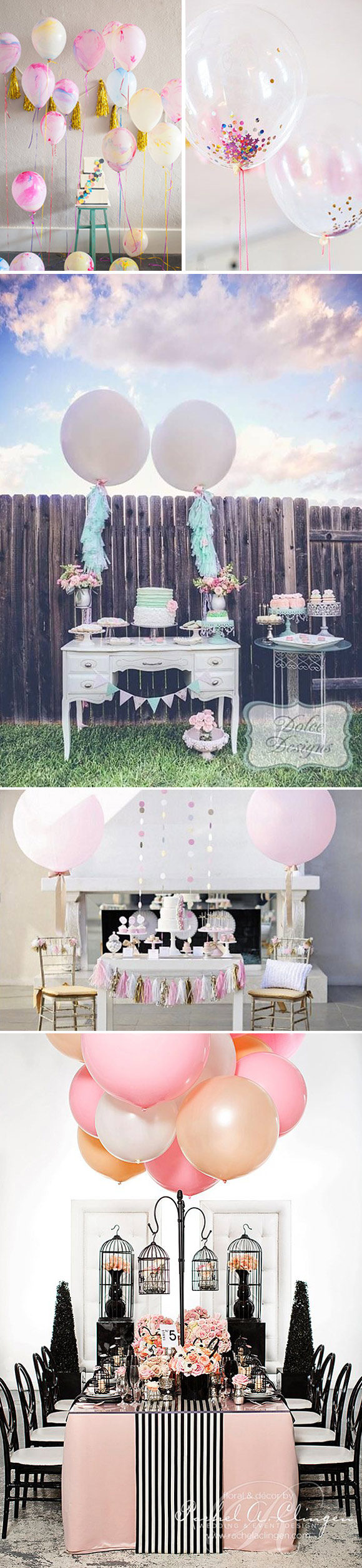 Ideas para decorar bodas y fiestas con globos de color