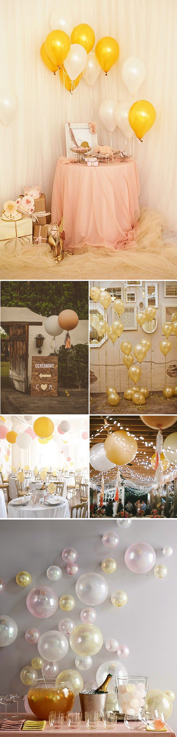 Decoracíon de bodas y eventos con globos de colores