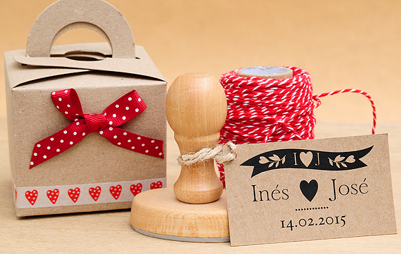 Ideas románticas para San Valentín. Packaging y sellos